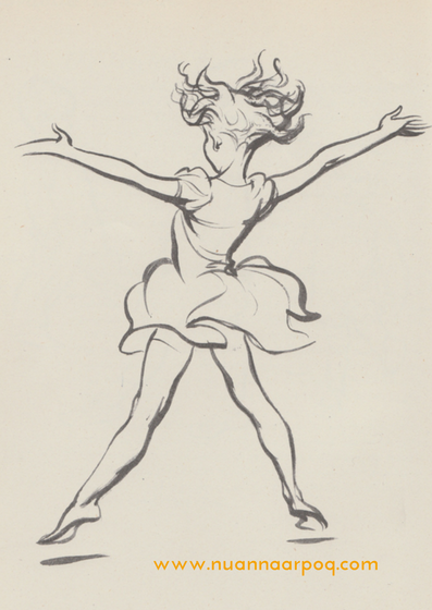 Image: girl leaping - JH Dowd, Serious Business, London 1938, p. 88