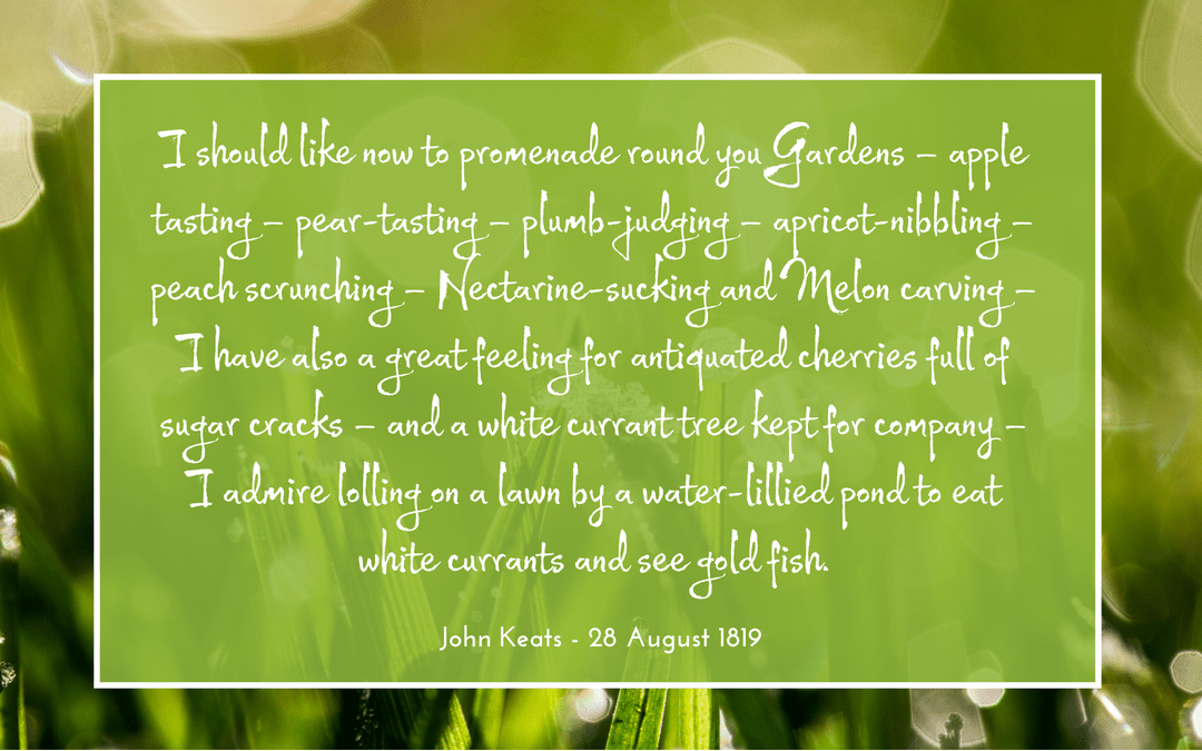 quotation - John Keats - garden