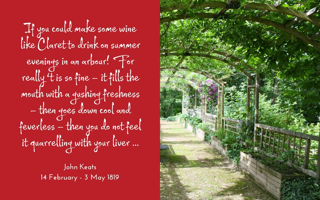 quotation - John Keats - claret