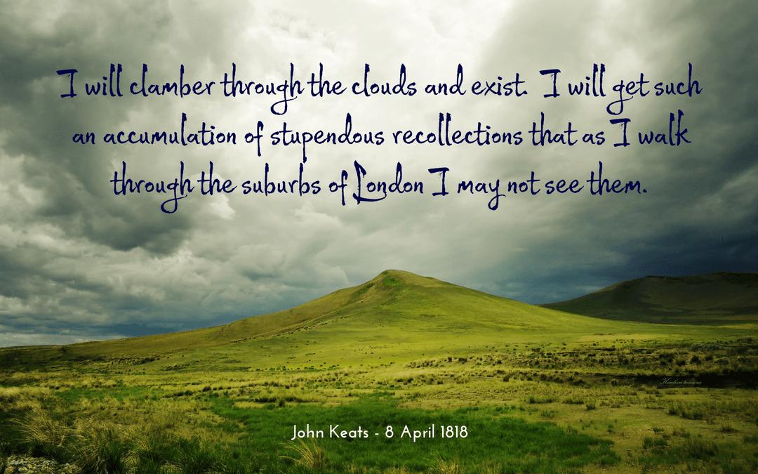 quotation - John Keats - happiness