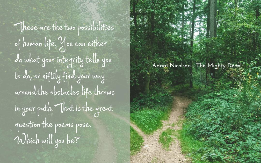 Quotation Adam Nicolson - The Mighty Dead