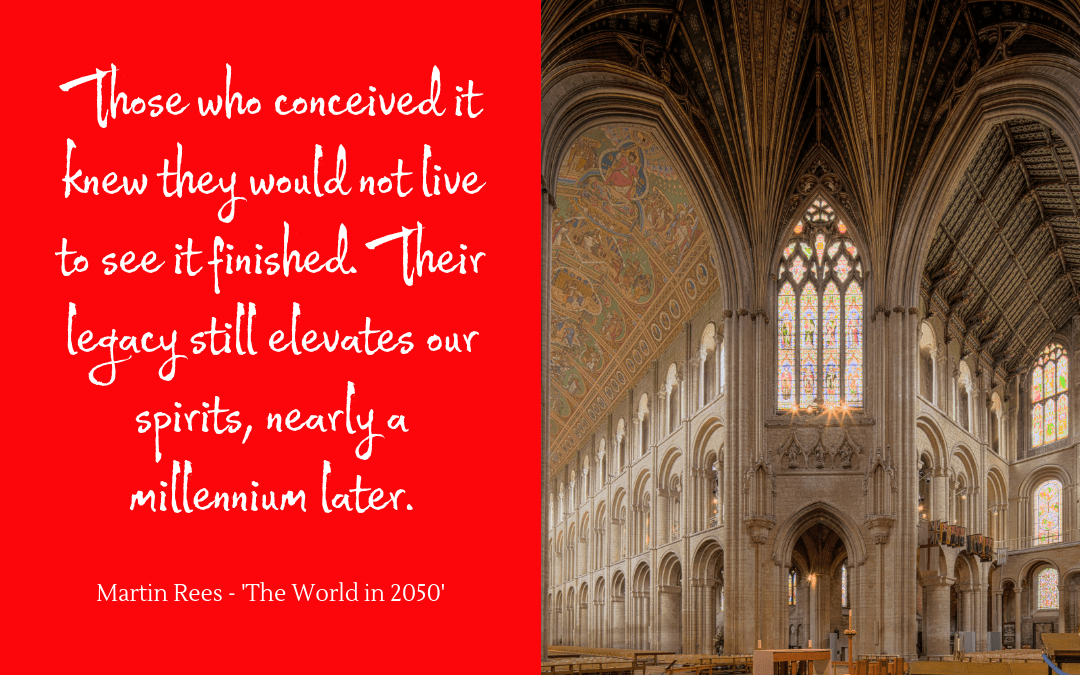 Quotation on Ely Cathedral by Martin Rees