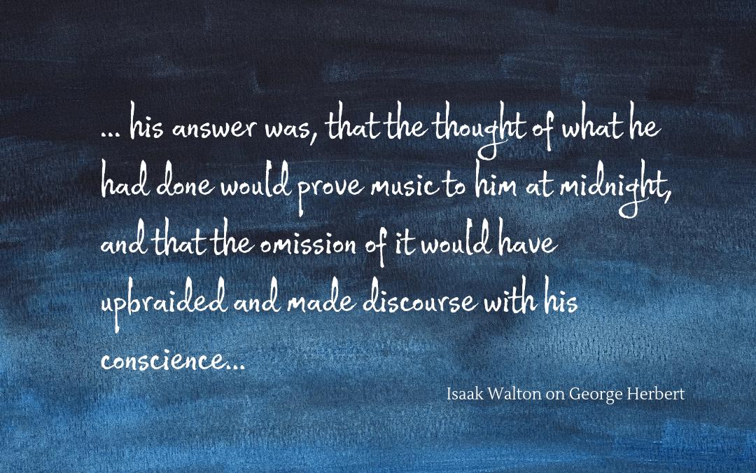 Quotation - Isaak Walton on George Herbert