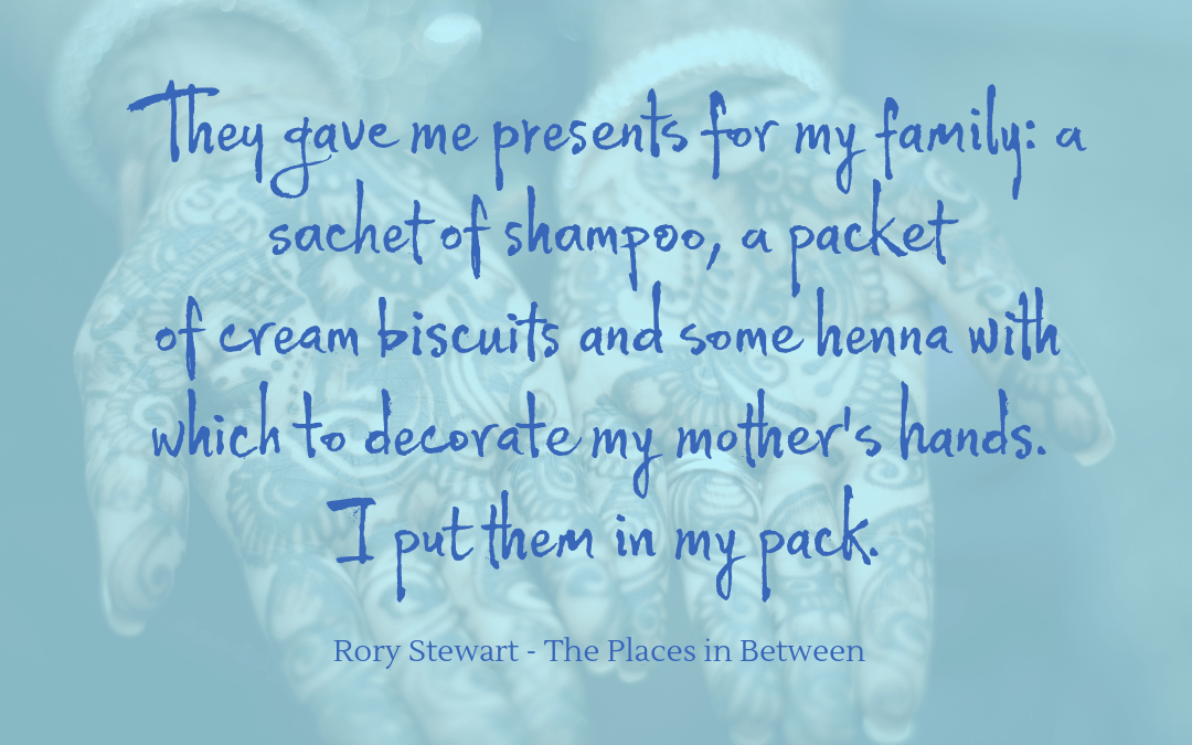 Quotation - Rory Stewart - Places in Between
