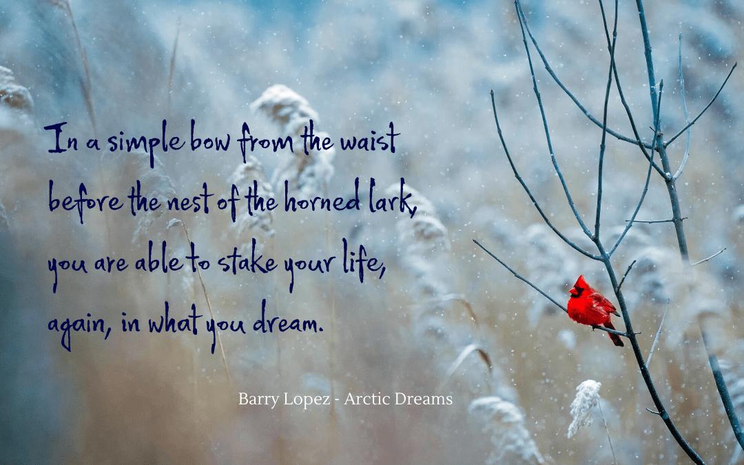 Quotation - Barry Lopez - Arctic Dreams