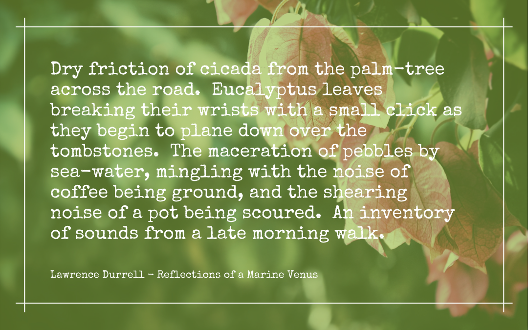 Quotation - Lawrence Durrell - Reflections on a Marine Venus