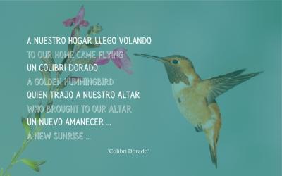 A golden hummingbird