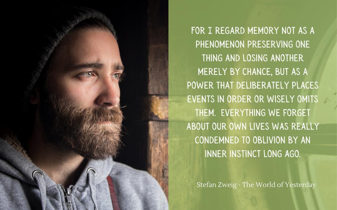 Quotation - Stefan Zweig - World of Yesterday