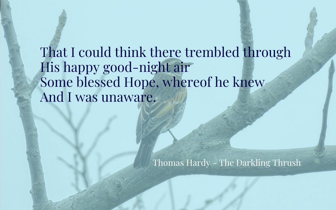 Quotation - Thomas Hardy - The Darkling Thrush