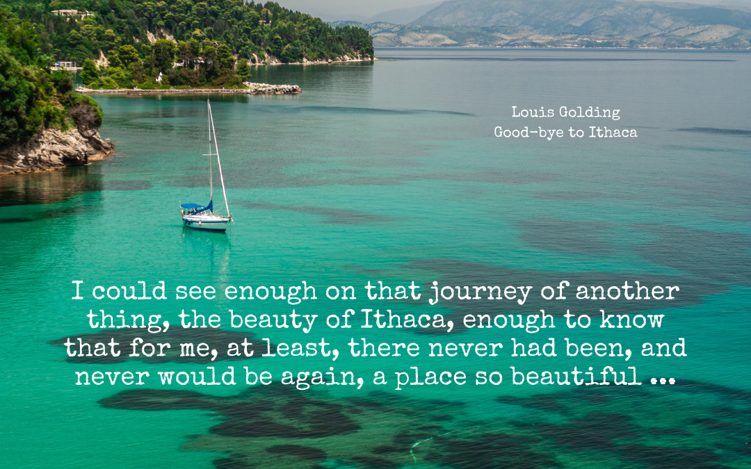 Quotation - Louis Golding - Goodbye to Ithaca